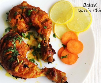 BAKED GARLIC CHICKEN RECIPE - HEALTHY CHICKEN RECIPES