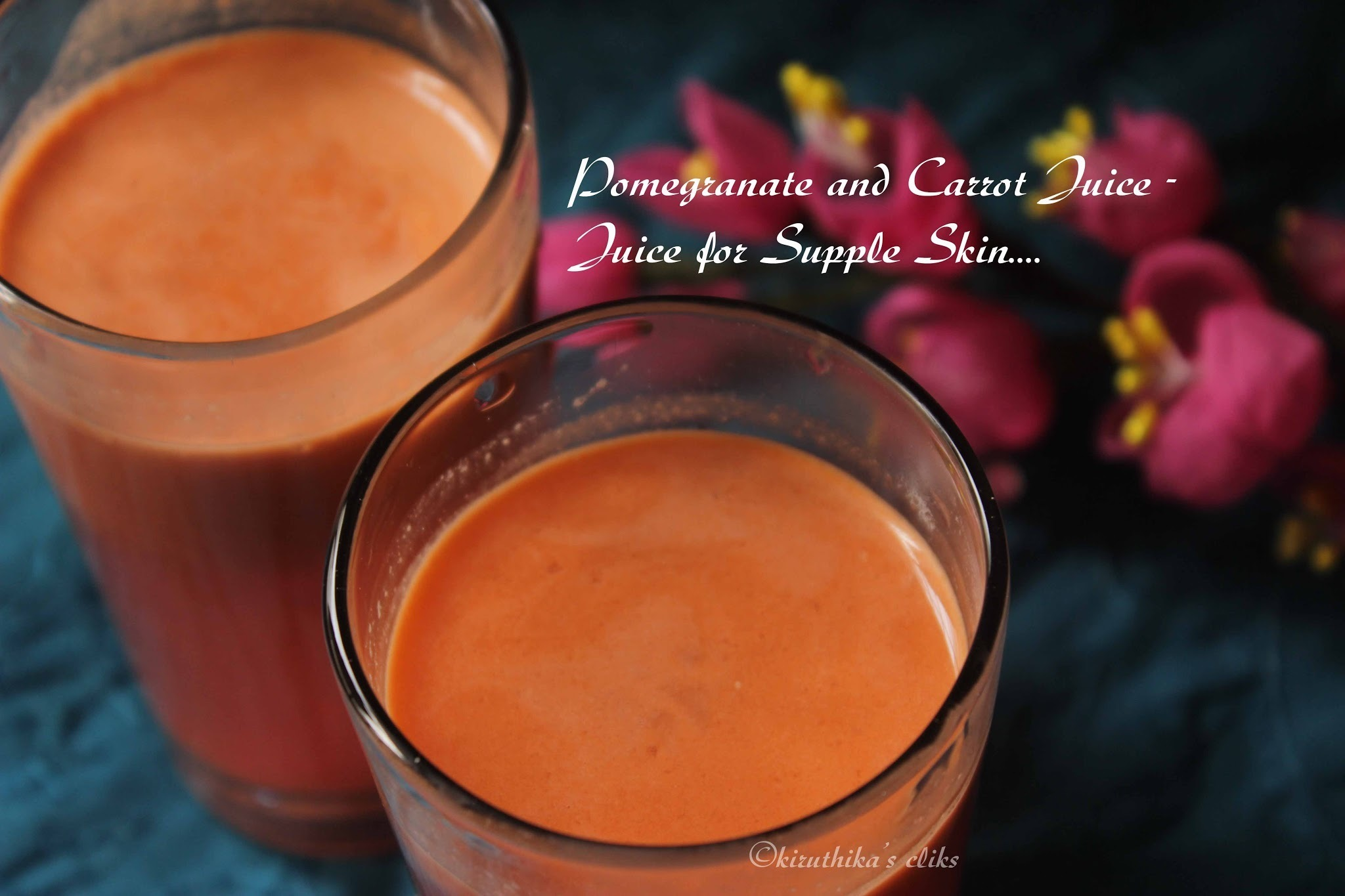 Pomegranate and Carrot Juice- Juice for Supple Skin