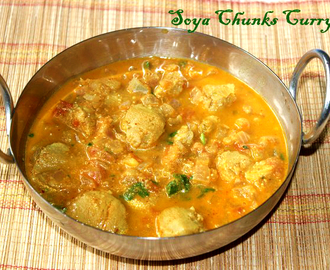 Soya chunks or meal maker curry or gravy recipe