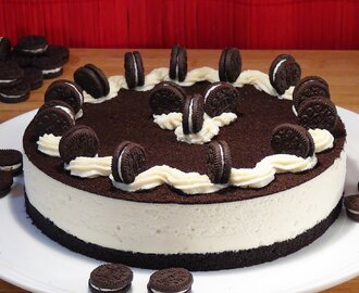 Cheesecake de Galletas oreo sin hornear