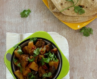 Quick Eggplant Potato Curry