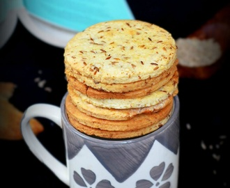 CUMIN COOKIES / JEERA BISCUITS - EASY INDIAN EGGLESS COOKIES