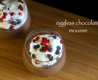 eggless chocolate mousse recipe | chocolate mousse without egg recipe