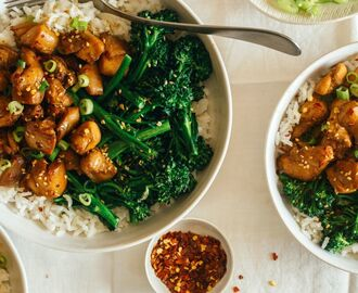 Spicy Chicken Teriyaki Bowls