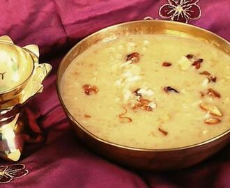 Rice and Lentils Jagerry Kheer (Arisi Paruppu Payasam)