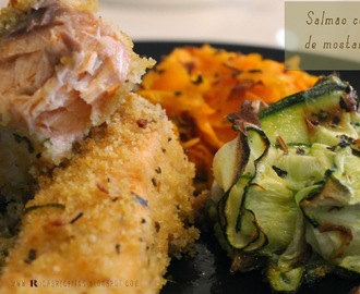 Salmão com crosta de mostarda e lima | Salmon with mustard and lime crust