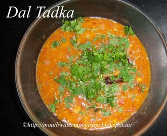 Dal Tadka -- How to make Dal Tadka -- Dal Tadka Recipe