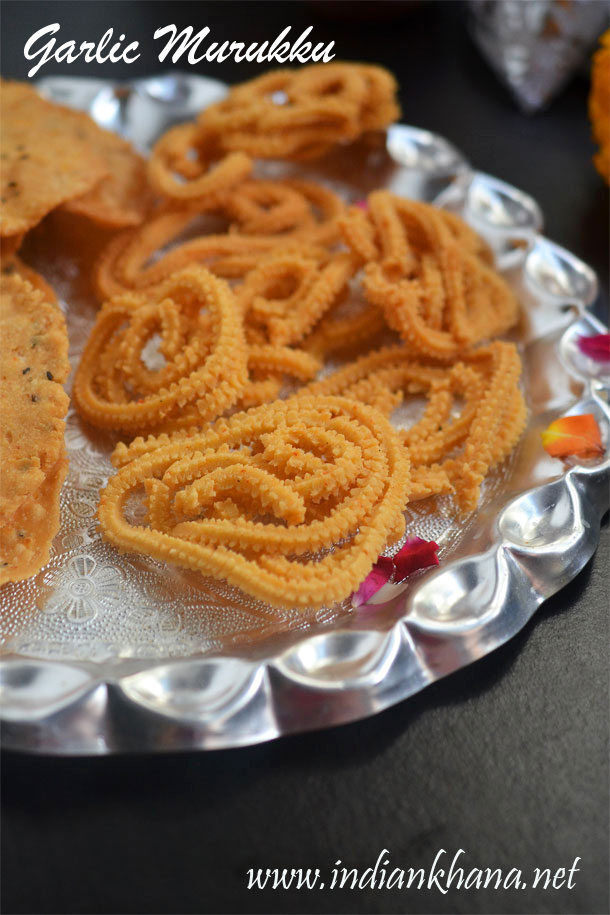 Garlic Murukku Recipe | Poondu Murukku | Diwali Snack Recipe
