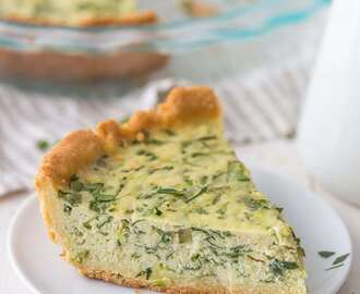 Paleo Quiche with Crab and Spinach (Gluten Free, Dairy Free)
