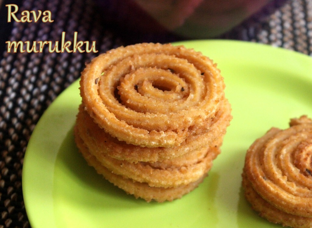 Rava murukku recipe – How to make rava chakli recipe – Diwali snacks | Murukku recipes