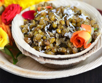 Paasi Payaru Sweet Sundal | Green Moong Dal Sweet Sundal | Easy Sundal Recipes
