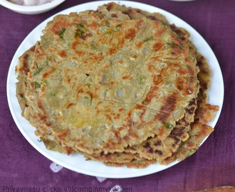 Bajra Aloo Roti from Hariyana/Pearl millet and potatoes flatbread