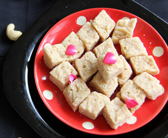 Cashew Burfi - Cashew Cake - Easy diwali Sweets recipes - Deepavali Sweet recipes