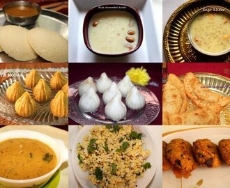 Ganesh Chaturthi recipes (Vinayak Chaturthi recipes)