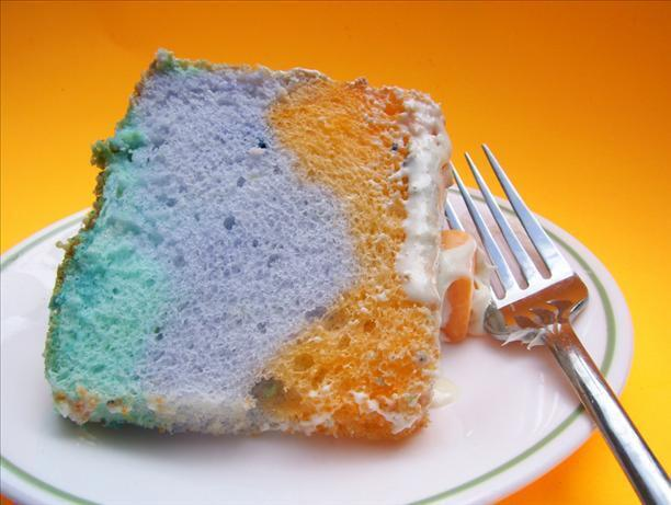 Tie-Dyed Angel Food Cake