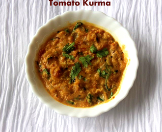 Tomato kurma/thakkali kurma recipe – easy side dish for rotis, idlis or dosas