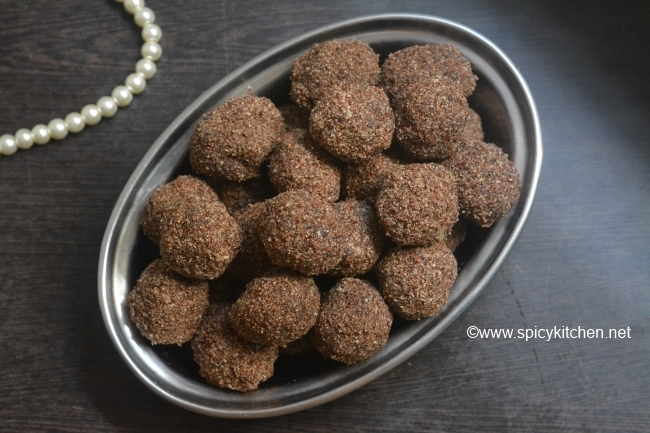 Ragi Ladoo | Healthy ragi ladoo with popped ragi and jaggery