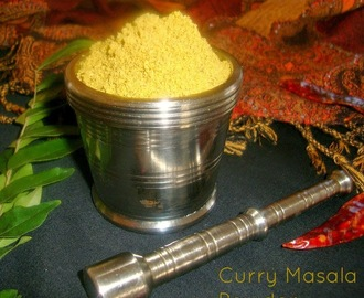 Curry Masala Powder Recipe / Poriyal Masala Powder Recipe - Used for Poriyal / Sabzi / Palya