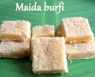 Maida burfi recipe – How to make maida burfi/barfi recipe – Diwali recipes