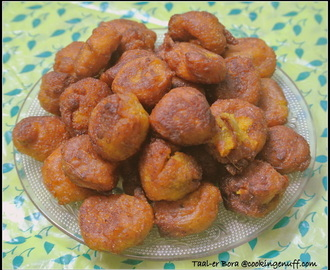 Home Made Bengali Sweet–Taler Bora/Palm Pakora