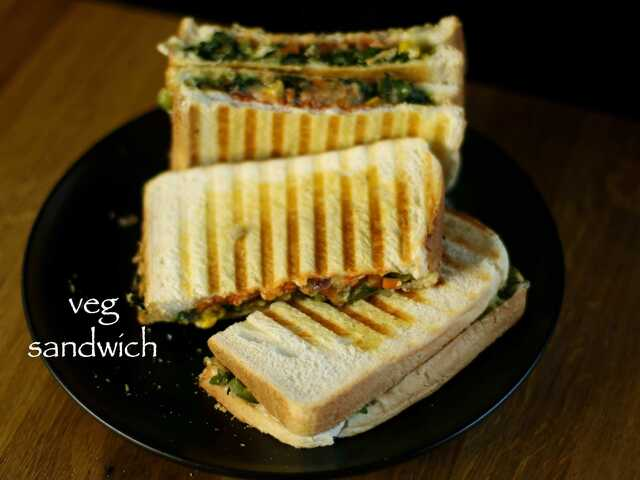 veg sandwich recipe | easy vegetable cheese sandwich recipe