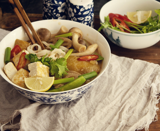 Noodle Soup in Spicy Peanut Broth