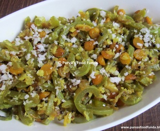 Padwal Chanadal Bhaji ~ Snake Gourd Stirfry with Chana dal
