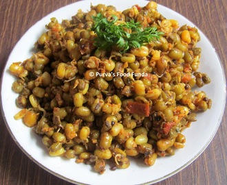 Mugachi Usal ~ Maharashtrian Sprouted Green Gram/ Moong Beans Curry