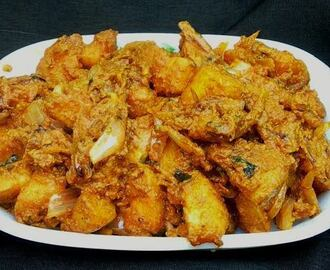 Fried Potatoes in Spicy Yoghurt Gravy