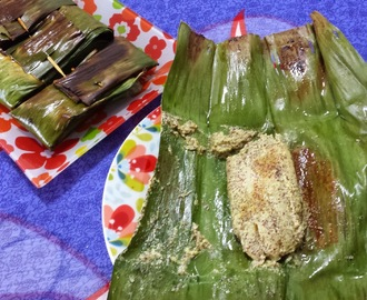 MACH PATURI [SPICY FISH FILLETS WRAPPED IN BANANA LEAVES]