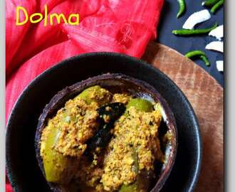 Niramish Patoler Dolma/Dorma(Veg version of Bengali stuffed Parwal/pointed Gourd)