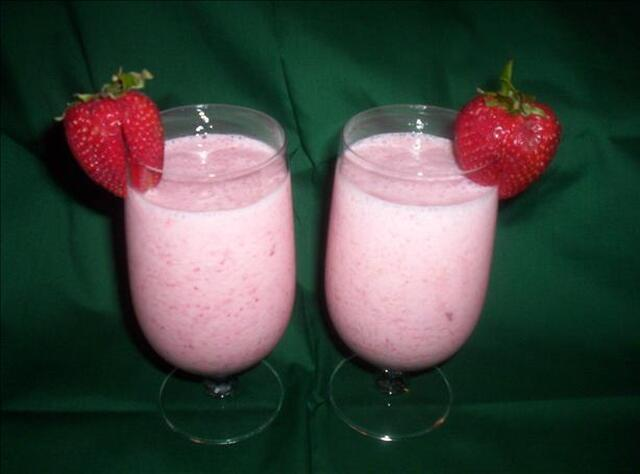Strawberry Silk Smoothie.