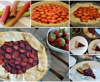 A das Aventuras da Rita na cozinha * 5 - Tarte de Ruibarbo e Morangos (A for Rita's Adventures in the kitchen * 5 - Rhubarb and Strawberry Pie