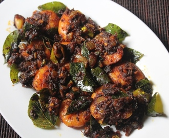 Keralan Prawn Roast Recipe - Chemmeen Roast Recipe
