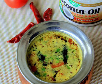 Coconut Rasam - Coconut milk Rasam - Simple yet flavourful Rasam - Coconut milk Lentil soup