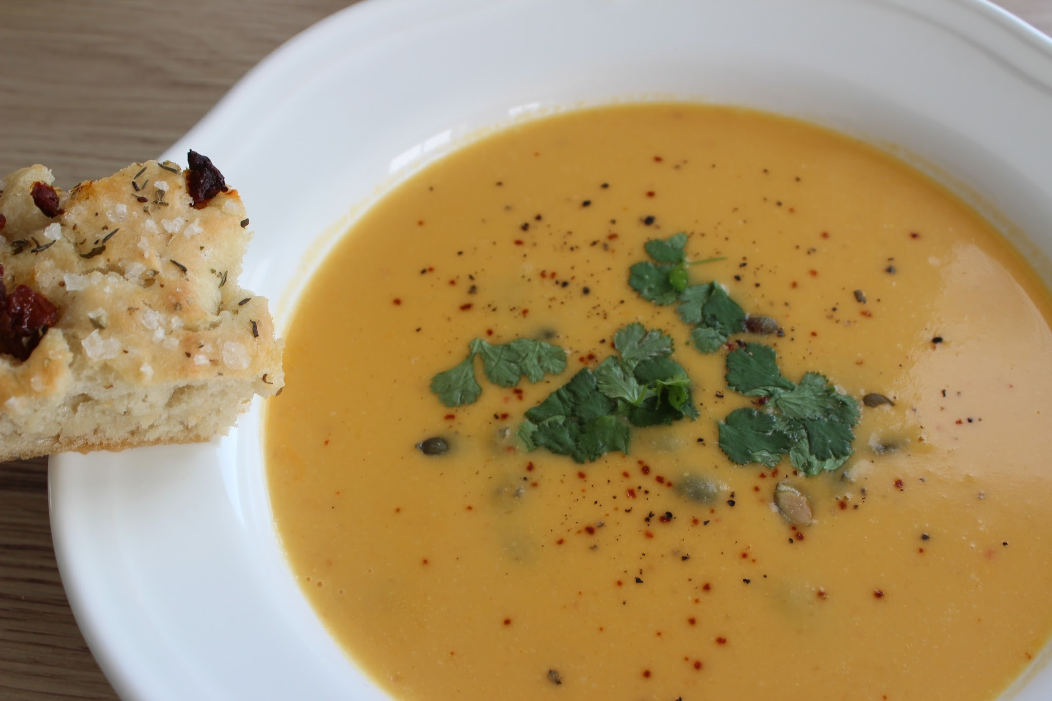 Butternut squash suppe
