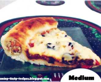 Pizza Stuffed With Chicken On The Parties