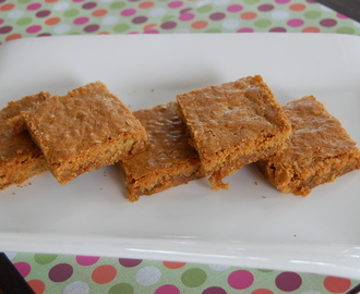 Chewy Carrot Toffee Blondies