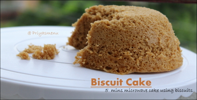 Biscuit Cake / 5 Mins cake using leftover Biscuits / Kids Friendly Recipe