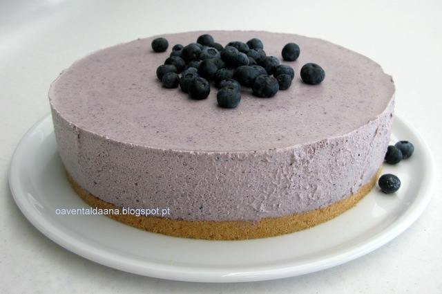 Cheesecake de Mirtilos na Bimby, ou não  -  Blueberry Cheesecake