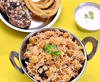 No Onion No Garlic Biryani Recipe-Baby Corn Biryani