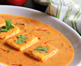 Paneer Shahi Kurma, Creamy Curry With Cottage Cheese
