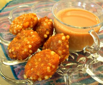 Sabudana Vada with a Hot Cup of Tea { Tapioca Fritters }