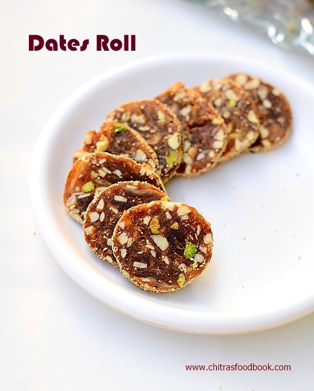 Dates Nuts Roll Recipe/Khajoor Katri-Easy Diwali Sweets Recipe