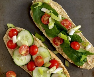 Cucumber Tomato Sandwich with Hummus (for World Vegetarian Day)