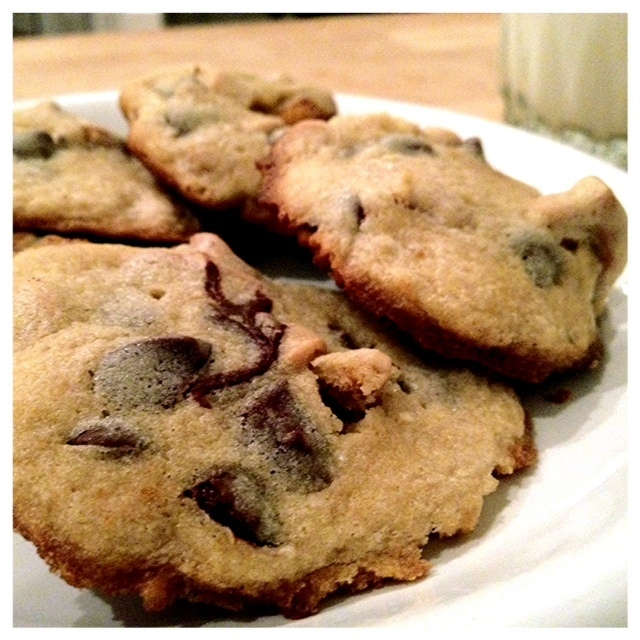 Chocolate-chip cookies with peanut butter and pretzel bits