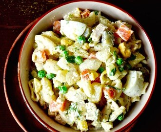 Russian Salad – Olivier Salad with Macaroni