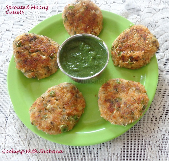 SPROUTED MOONG CUTLETS