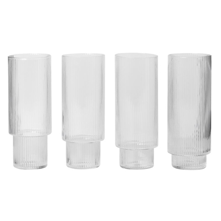 Ripple long drink glas 4-pack Ferm Living