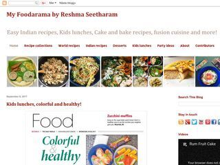 My foodarama by Reshma Seetharam